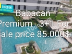 Babacan Premium is an ideal Mix for Privileged life With Rich facilities and it is a social balcony 1+1 Price 53,000$